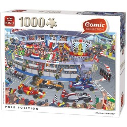 KING- Comic Puzzle 1000 pcs, 5548, Multicolore